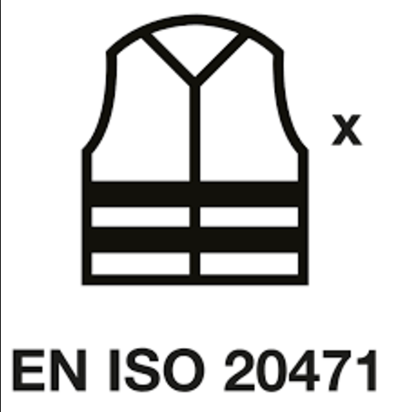 What are the requirements of EN ISO 20471 Class 2 and 3 for high visibility clothing?
