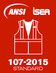 What are the requirements of ANSI/ISEA 107 Class 2 and 3 for high visibility clothing?