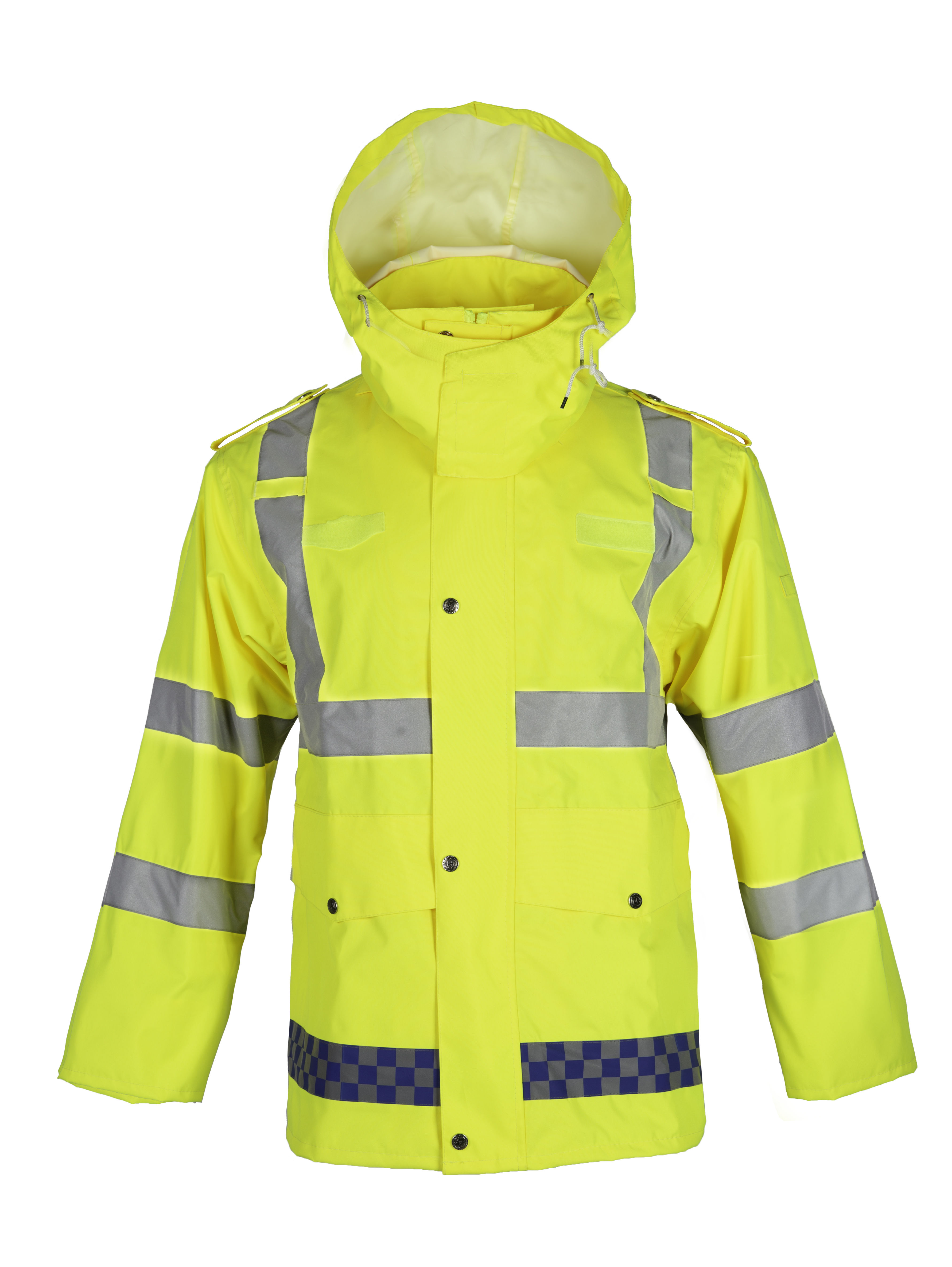 Reflective work raincoat