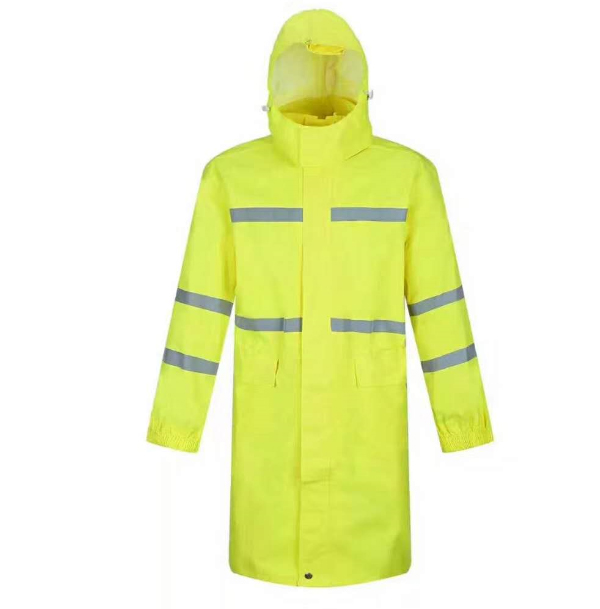 high visibility one piece safety reflective raincoat rainsuit