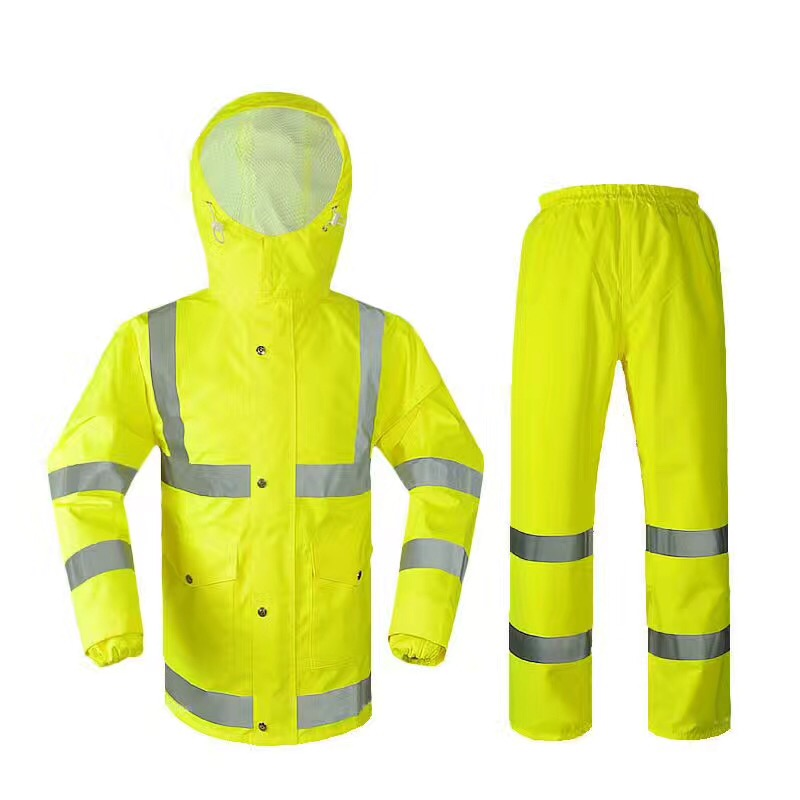 oxford raincoat hi-vis safety oxford raincoat