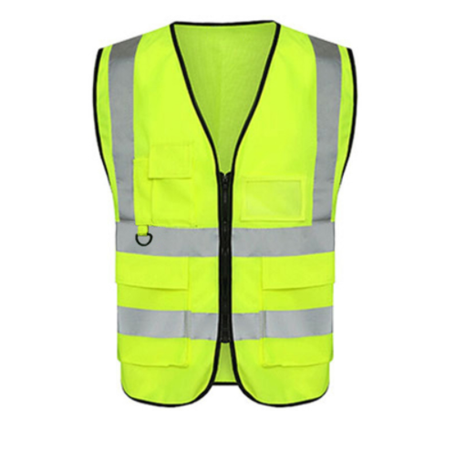Cycling Reflective Vest High Visibility Fluorescent Outdoor Safety Clothing 3D Multi-pocket Waistcoat Reflective Safety Jacket