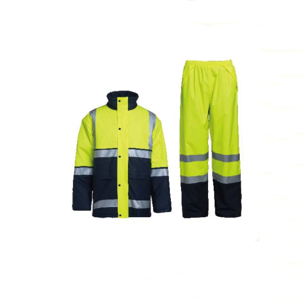 Hi-Vis Pu coating Rainwear