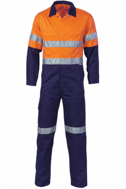 Workman's reflective workwear orange flame resistant safety coveralls