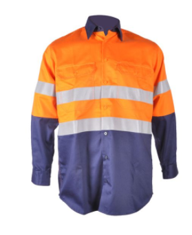 Aus Cotton Drill Workwear Wholesale Safety work Shirts in long sleeves