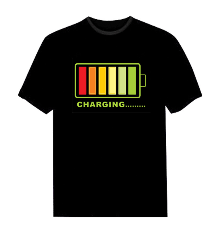 Sound Activated Led T Shirt El Flashing t Shirt