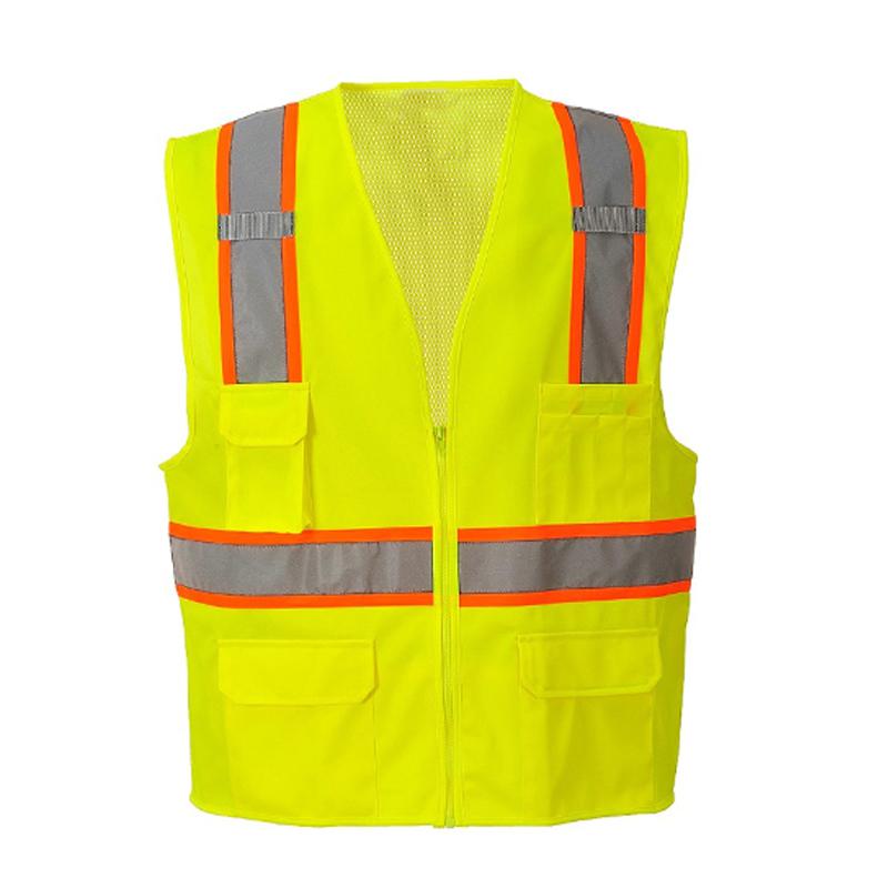 construction class 2 high vis vest with pockets