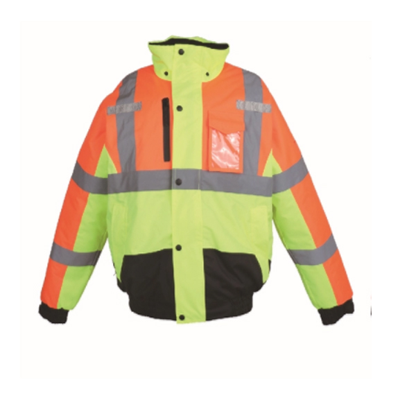 two tone high visibility safety bomber jacket