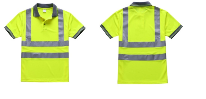 Safety Hi-Vis Class 2 Reflective Safety T-Shirt - 副本